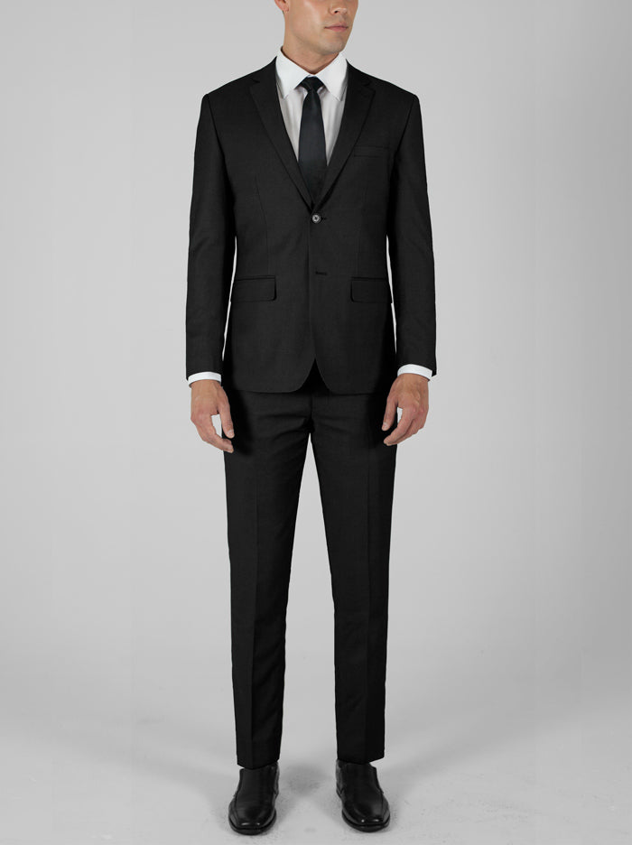 Black Birdseye Two Button Suit