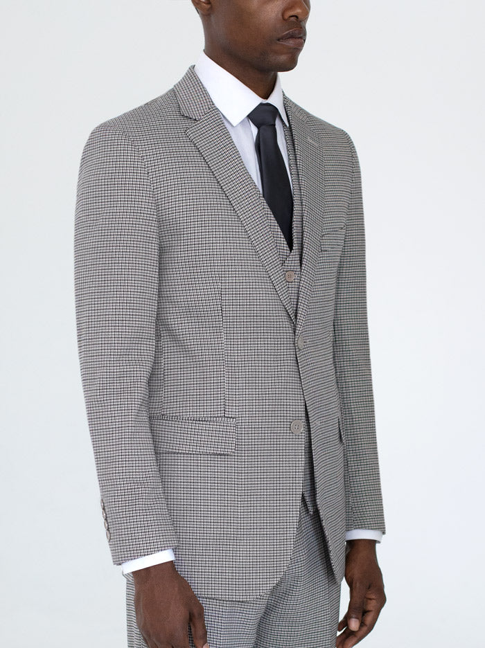 Houndstooth Three Piece Suit