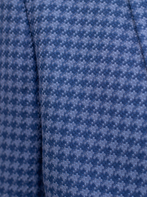 Royal Blue & Slate Blue Large Houndstooth Three Piece Suit