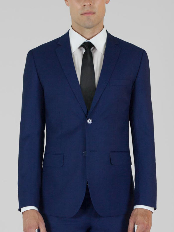 BIRDSEYE BLUE TWO BUTTON TR SUIT