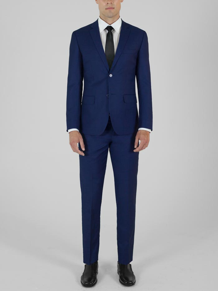 BIRDSEYE BLUE TWO BUTTON SUIT