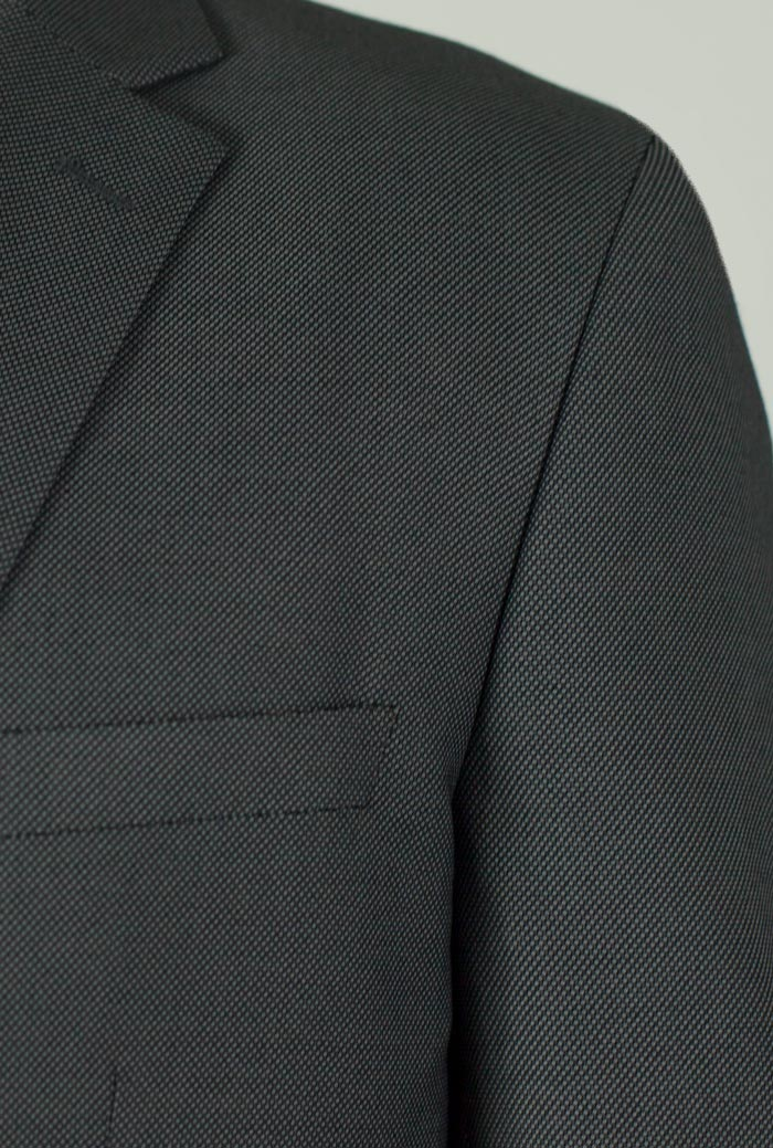 Grey Birdseye Two Button Suit