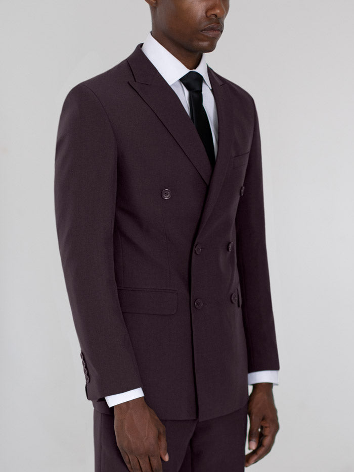 BURGUNDY DOUBLE BREASTED SUIT