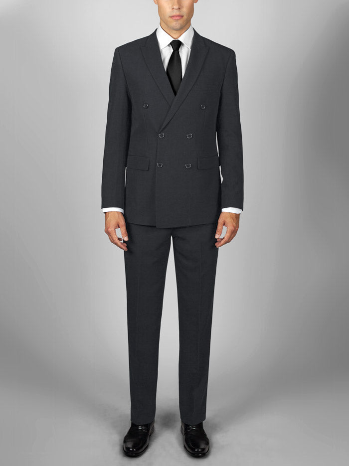 CHARCOAL GREY DOUBLE BREASTED TR SUIT