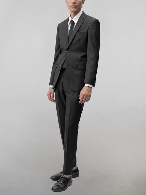 Dark Grey Two Button Suit