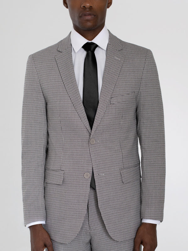 HOUNDSTOOTH TWO BUTTON TR SUIT