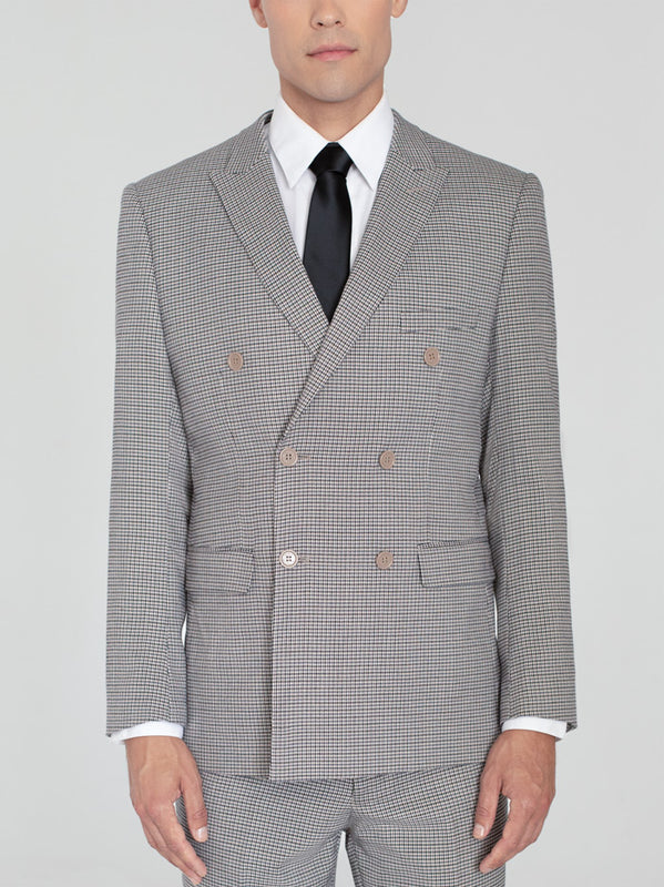 HOUNDSTOOTH DOUBLE BREASTED TR SUIT