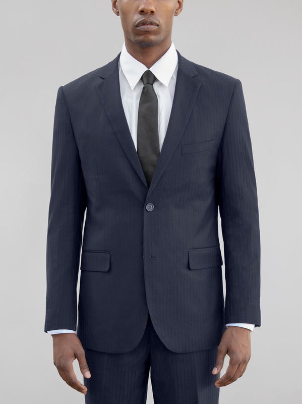 NAVY TONE-ON-TONE TWO BUTTON SUIT