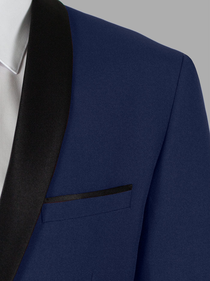 Royal Blue Tuxedo With Shawl Lapel