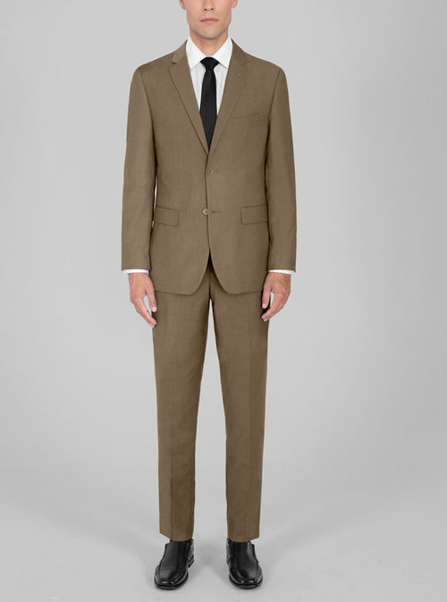 Tan Two Button Suit