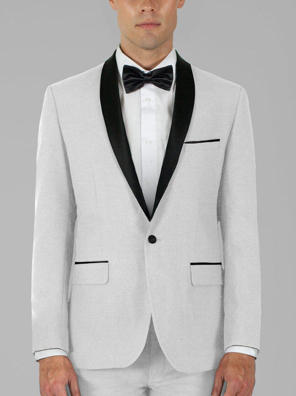 WHITE TUXEDO WITH SHAWL LAPEL TR