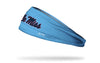 light blue headband with University of Mississippi Ole Miss wordmark in red and navy