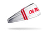 University of Mississippi: Ole Miss Stripes White Headband