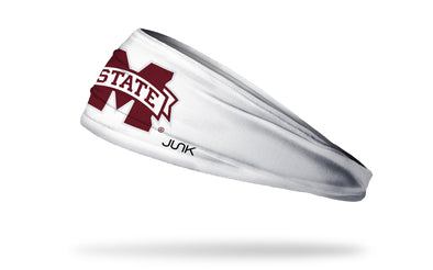 Mississippi State University: Logo White Headband