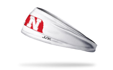 University of Nebraska: State White Headband