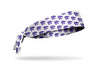white headband with Kansas State University repeating pattern Wildcat logo in purple