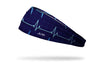 navy headband with illustrated sinus rhythm for nurses