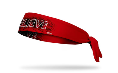 Believe Bold Red Headband