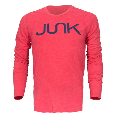 JUNK Tri-Blend Red Long Sleeve Tee