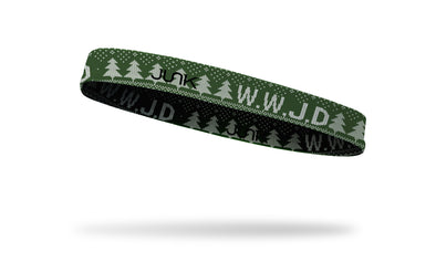 WWJD Green Sweater Thin Band