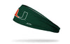 University of Miami: Logo Green Headband