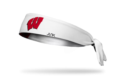 University of Wisconsin: Logo White Tie Headband