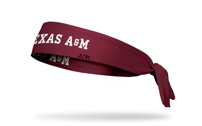 Texas A&M University: Wordmark Maroon Tie Headband