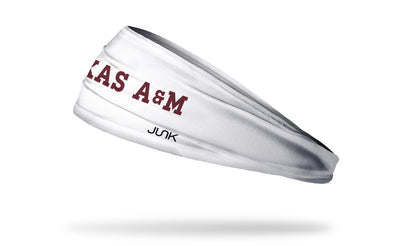 Texas A&M University: Wordmark White Headband