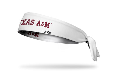 Texas A&M University: Wordmark White Tie Headband