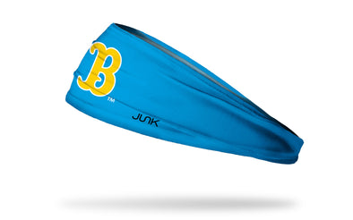 light blue headband with University of California, Los Angeles UCLA Bruins classic B logo in gold and white