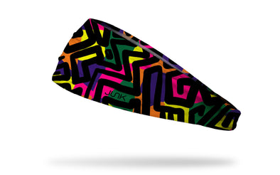 90's themed bright primary colors headband with pop art lines