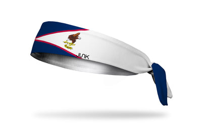 headband with traditional American Samoa flag design