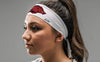 University of Arkansas: Razorback White Tie Headband