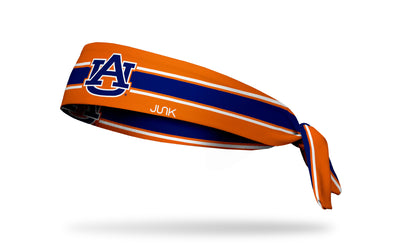 Auburn University: Orange Stripe Tie Headband