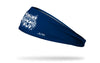 navy headband with University of Arizona classic wildcat logo in white