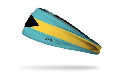 headband with traditional Bahamas flag design