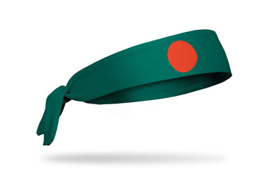 headband with traditional Bangladesh flag design