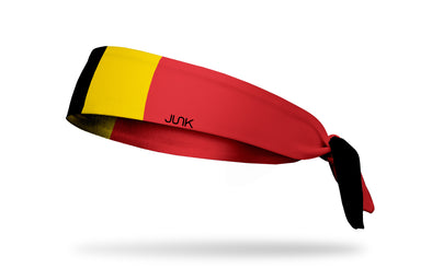 Flag of Belgium Tie Headband - Left Side