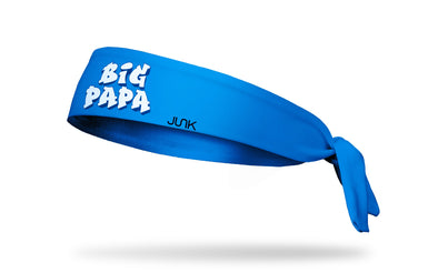 bright blue headband with Big Papa wordmark in white