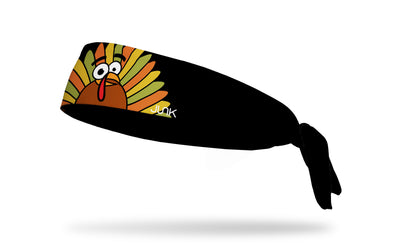 colorful fall thanksgiving turkey headband black