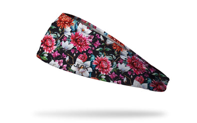 Red and White Floral Pattern Headband