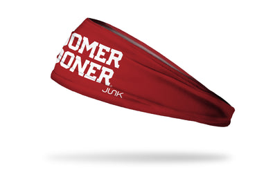 University of Oklahoma: Boomer Sooner Red Headband