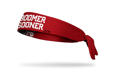 University of Oklahoma: Boomer Sooner Red Tie Headband