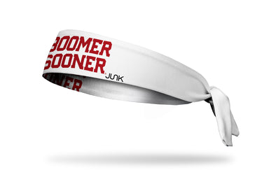 University of Oklahoma: Boomer Sooner White Tie Headband