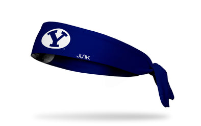 Brigham Young University: Y Logo Navy Tie Headband