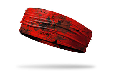 chinese red headband with grunge overlay design