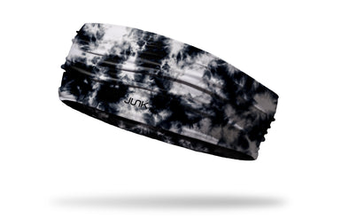 black white tie dye watercolor headband