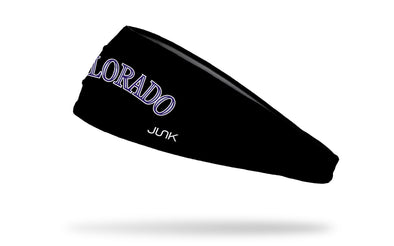 Colorado Rockies: CO Black Headband