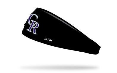 Colorado Rockies: Logo Black Headband