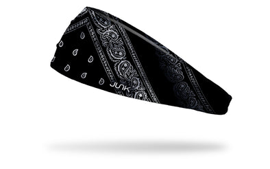 Left Side of Black and White Bandana Headband